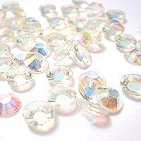 K2 accessories-Piatto fondo, confezione da 1000 pezzi, gemme di strass di resina Cabochons/realizzare biglietti, progetti di Scrapbooking e Nail Art, KB0926 AB/2 mm, colore: avorio