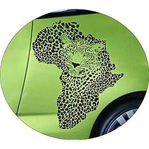 Autoaufkleber Afrika Leopard Farbe Schwarz Größe 60x55cm