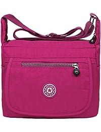 293c8a181f EGOGO Water Resistant Nylon Casual Handbag Shoulder Bag Messenger Cross  Body Bag E303-6