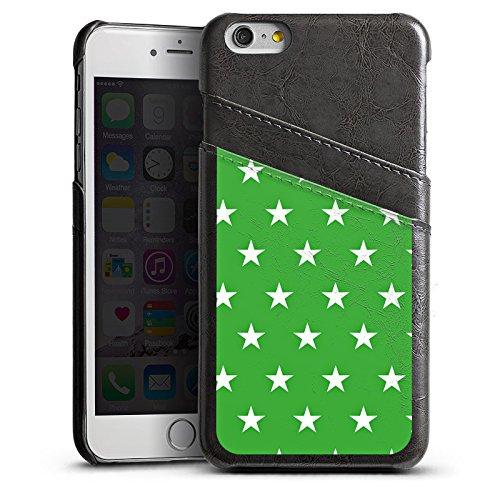 Apple iPhone 5 Housse Étui Protection Coque Étoiles Motif Motif Étui en cuir gris