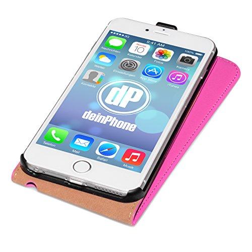 """deinPhone Étui pour iPhone 6(4,7"""") Flip Case Hot Pink"""