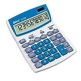 Rexel Ibico 212X Tischrechner (mit schwenkbarem Display) weiß/blau