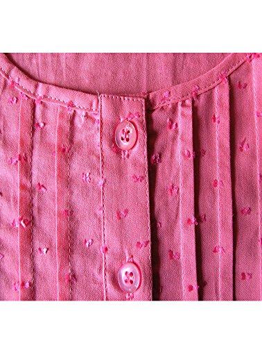 adonia mode Leichte Tunika Bluse Raffung A-Linie Baumwolle , Gr. 48 Pink