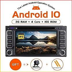 ZLTOOPAI Android 10 Auto DVD Player für Toyota Land Cruiser 100 200 Prado 120 150 Rush Corolla Hiace Yaris Hilux Stereo Auto GPS Navigation Media Player Double DIN Head Unit mit IPS DSP