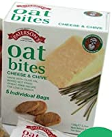 (8 PACK) - Patersons Oat Bites - Cheese & Chive| (25x4) x 8 (gx)x |8 PACK - SUPER SAVER - SAVE MONEY from Paterson Arran Ltd