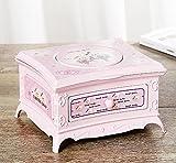 Rcdxing Wohnkultur Music box girevole per donna classica con specchio per trucco per regalo rosa für Kindergeschenk
