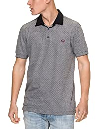 Fred Perry Polka Dot Oxford Pique shirt Dark Carbon, Polo