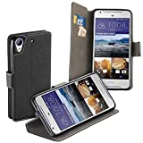 yayago Book Style Tasche Case für HTC Desire 628/628 Dual Hülle Klapphülle mit Standfunktion Schwarz