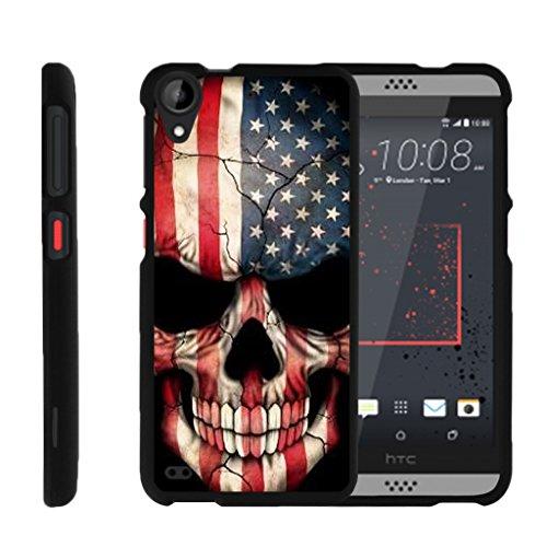 turtlearmor | Kompatibel für HTC Desire 530Fall | Desire 630| Desire 550[Slim Duo] Zwei Stück Hard Cover Slim Snap auf Fall auf Schwarz -, US Flag Skull (Htc Desire Virgin Mobile Fall)