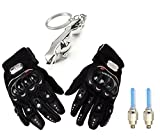#10: Skycandle Pro Bike Gloves With Tyre Led Light And Silver Jaguar Key Chain