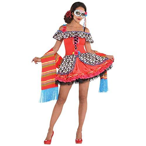 Generique - Kostüm Dia de los Muertos für Damen M