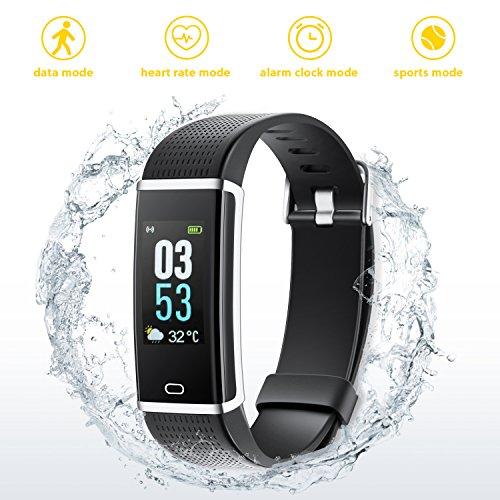 Hongyifa Fitness Armband Fitness Tracker mit Pulsmesser Wasserdicht IP68 Bluetooth Smart Armband