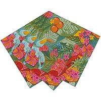 Talking Tables - Confezione di tovaglioli di carta, modello: Tropical Fiesta, 20 pezzi, 33 cm - Giardino Luncheon Tovaglioli
