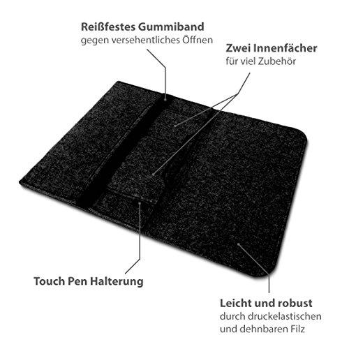 NAUC Laptoptasche Sleeve Schutz Tasche Hlle fr Trekstor Primebook C11 Notebook Hlle Ultrabook 116 Zoll Laptop Filz scenario FarbeDunkelgrau Hllen