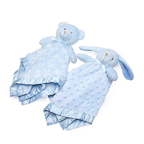 pro goleem junge und mädchen Schnuffeltücher Trösterchen Bär Hase Decke Blau