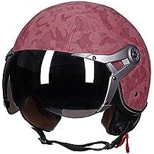 Casco de motocicleta clásico, casco abierto para hombres y mujeres, F, L (