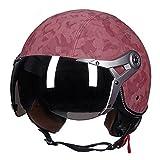 Casque de moto rétro - À moitié couvert avec visage ouvert - Pour hommes et...