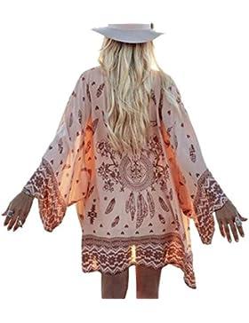 Homebaby® Copricostume Mare Cardigan Donna - Stampa Casual Estivo Scialle Elegante - Chiffon Costume da Bagno...