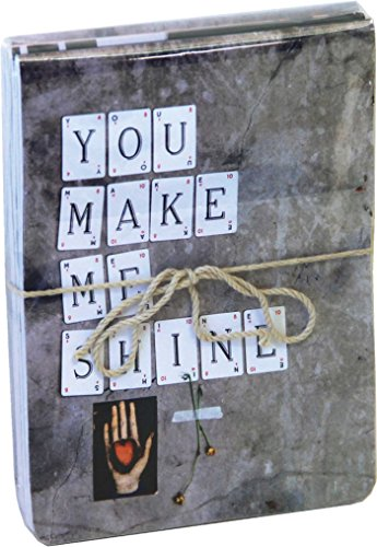 You Make Me Shine Mini Flip-top Notebooks (pack of 3): Flexi Cover, Held Together with Twine and Sealed in a Transparent Bag (Notebook Fliptop)