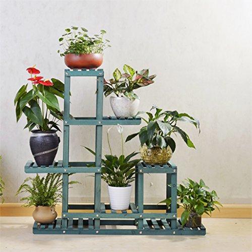 Stand De Fleurs Étagère de fleur de salon en bois, support de pot de stockage de coin de coin multi-couche coin fleur, taille: 90 × 25 × 86cm (Couleur : A)