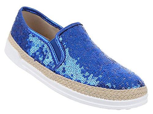 Damen-Schuhe Slipper | stilvolle Halbschuhe in verschiedenen Farben und Größen | Schuhcity24 | Stiefel Stiefeletten | Espadrilles mit Strass Blau 7hWaf7chf1