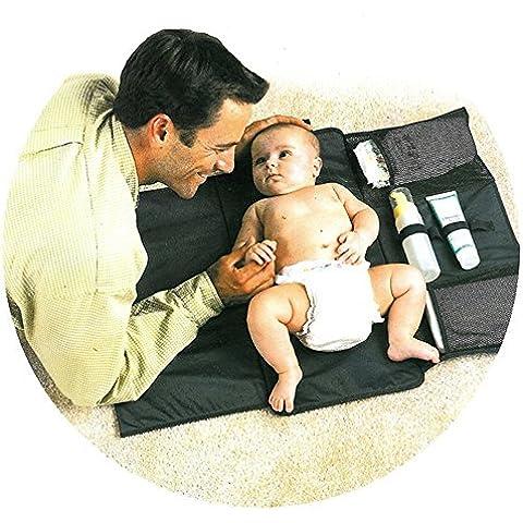 Webeauty® todo en uno para cambiar pañales lavables del cojín del embrague, Pañal portátil cambiador de bebé, fácil de utilizar para acampar, viajes,