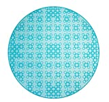 Strictly Briks Clever Creations - base per costruzioni circolare - compatibile con tutte le principali marche - solo mattoncini a pioli grandi - diametro 32 cm - turchese trasparente
