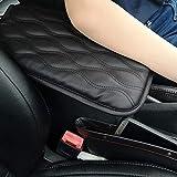 YuCool - Tappetino per console centrale, con organizer per sedile auto, universale, adatto per la maggior parte delle auto, colore: nero
