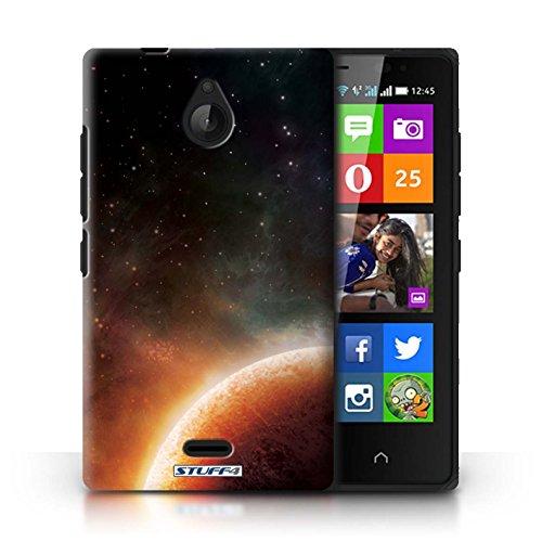 Kobalt® Imprimé Etui / Coque pour Nokia X2 Dual Sim / Nébuleuse Verte conception / Série Cosmos Planète Orange