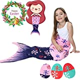 Camlinbo Mermaid Tail Blanket For Girls Flannel Soft Warm All Seasons Sleeping Bags Best Great Gift for Friends family Apply to Bedroom Sofa Beach Outdoor (C-pink)
