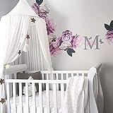 Zinsale Kinder Bett Baldachin Chiffon Moskitonetz Hängenden Vorhang Baby Indoor Outdoor Lesen Spielen Zelt, Höhe 240 cm (Weiß)