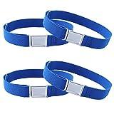 Kajeer 4Stck Gürtel für Jungen Mädchen Verstellbar - Großer Elastischer Stretchgürtel mit einfacher Magnetschnalle