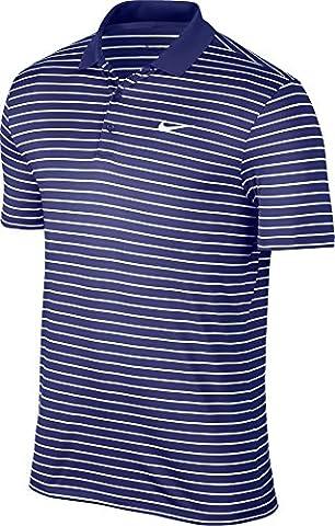 Nike Victory Mini Stripe LC–T-shirt polo à manches courtes de Golf pour homme XL bleu/blanc