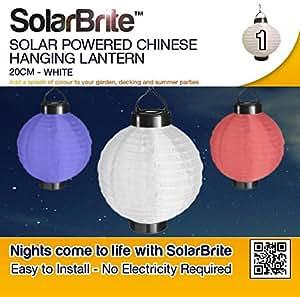 Solar Brite suspension Lanterne chinoise solaire 20 cm