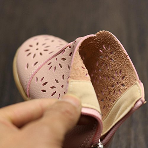 Schuh Schuhe Mädchen Soft Paar Igemy Baby Sole Flats 1 Velour Rosa Double Z8awtvqw
