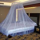 #6: Neruti Enterprise Nylon Adults Double bed (Round) Mosquito Net(Blue)