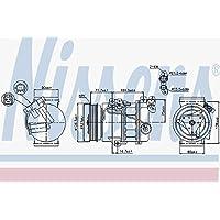 Nissens 89386 Compresor, aire acondicionado