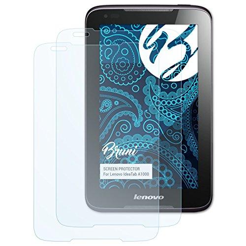 Bruni Schutzfolie kompatibel mit Lenovo IdeaTab A1000 Folie, glasklare Bildschirmschutzfolie (2X)