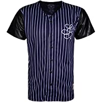 Mens Baseball Top Short Sleever Full Front Button Closure
