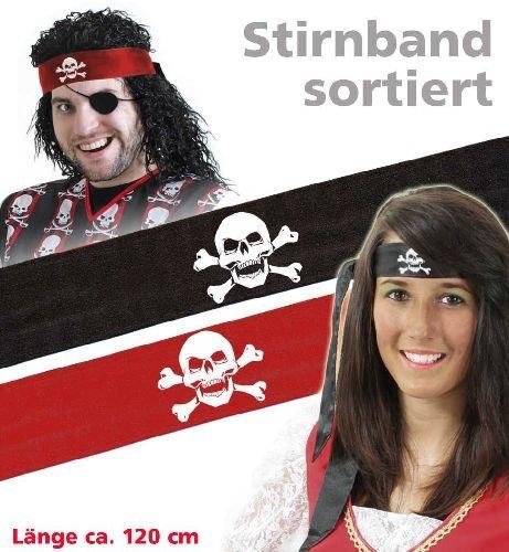 raten-Stirnband - rot - ca. 1,20 cm (Piraten Armbänder)
