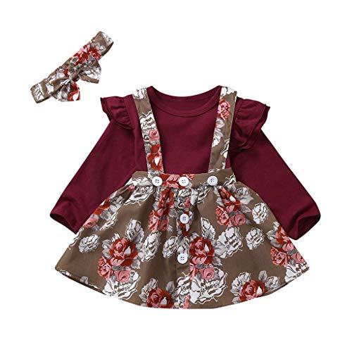 Neugeborene Säuglingsbabys Feste Geraffte Strampler Blumenstrumpf Rock gesetzte Kleidung (Leder Jacke Teddy Bär)