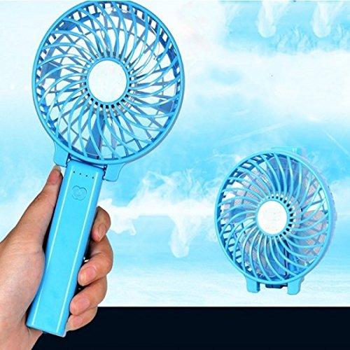 Carejoy Ventiladores recargables Ventilador portátil de mini ventilador Funcionamiento con pilas Ventilador...