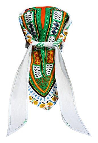 RaanPahMuang Haarband mit Bandana, afrikanischer Dashiki, Baumwolle, Piraten - Mehrfarbig - Medium -