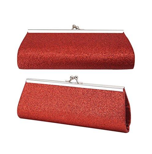 Dairyshop Borsa donna Portafoglio, Borsa da banchetto nozze promenade frizione nuziale sacchetto scintillio delle donne (colore rosa) rosso