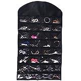 Ezigoo-Amplio-Organizador-de-Joyas-Colgante-de-Doble-Cara-Negro-armario-para-joyas-Soporte-para-anillos-y-pendientes-rbol-de-joyas-Todo-en-uno