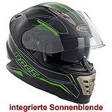 Rocc 486 Integralhelm L (59/60) Schwarz Matt/Grün