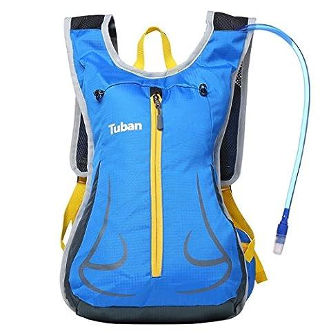 Fahrrad Wasser Tasche Rucksack, Umhängetasche Breathable Outdoor Reise Running Rucksack , blue