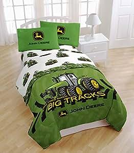 john deere lot de 3 pi ces de parure de lit simple motif tracteur agricole cuisine. Black Bedroom Furniture Sets. Home Design Ideas