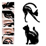 #2: Climberty 2 in 1 Cat Eyeliner Stencil, Matte PVC Material Smoky Eyeshadow Applicators Template Plate,Professional Multifunction Black Cat Shape Eye liner & Eye Shadow Guide Template (3 PACK)