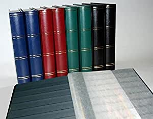 Album pour timbres, 60 pages, intérieur noir (couv. Rouge)